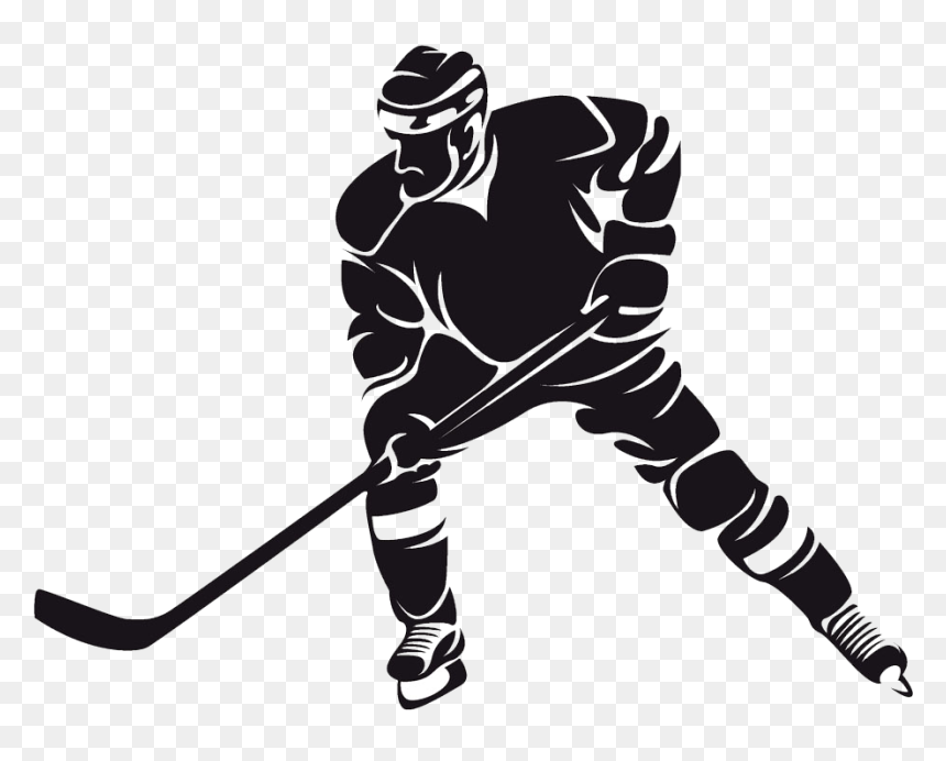 Santa Hockey Logo - Vector Clipart Santa