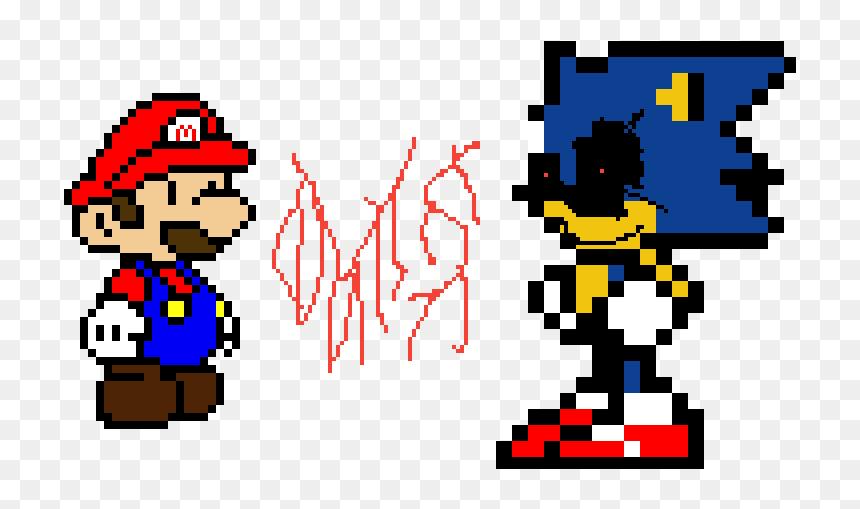 Mario Vs Sonic 8 Bit Sonic Pixel Art Hd Png Download Vhv