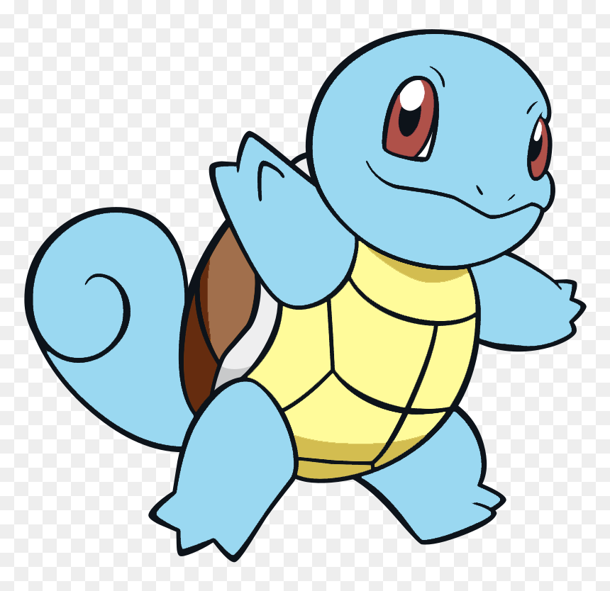 Tiny Turtle Pokemon Squirtle Hides In Its Shell For Squirtle Pokemon Coloring Pages Hd Png Download Vhv