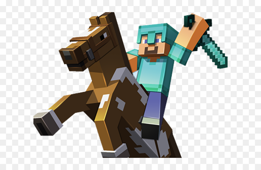 Minecraft Clipart Minecraft Horse Minecraft Steve On Horse Hd Png Download Vhv