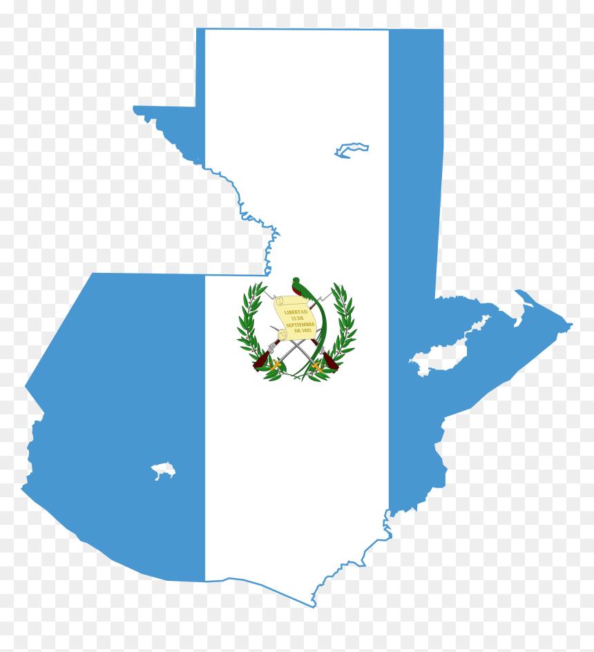 Guatemala Flag Map Hd Png Download Vhv