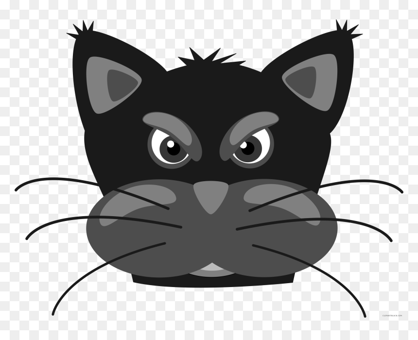 Transparent Panther Paw Png Cute Cartoon Cat Face Png Download