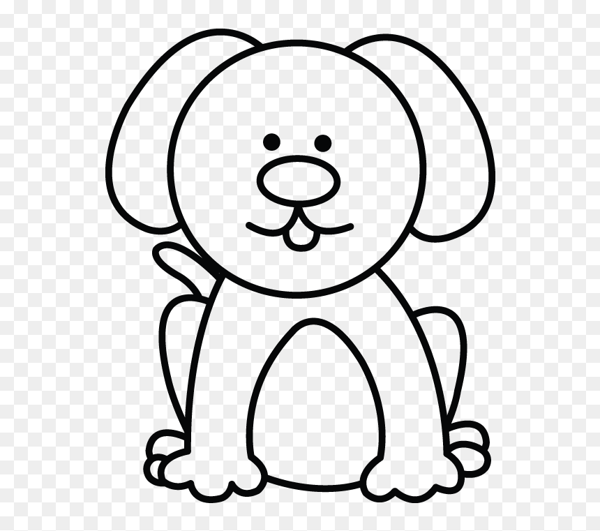 How To Draw A Dog Step Easy Small Dog Drawing Hd Png Download Vhv