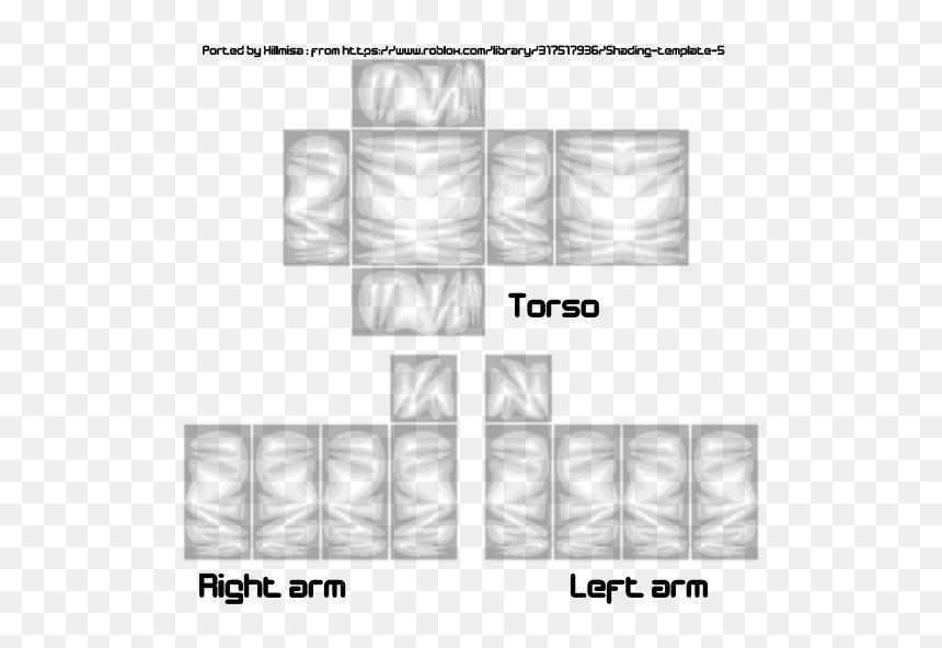Shade Shirt Template Brick Hill Roblox Shirt Shading Template