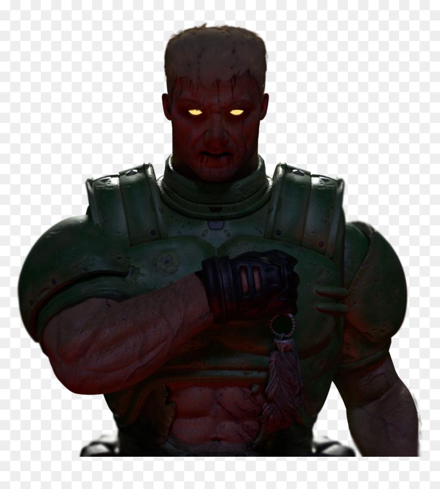 doom guy face png