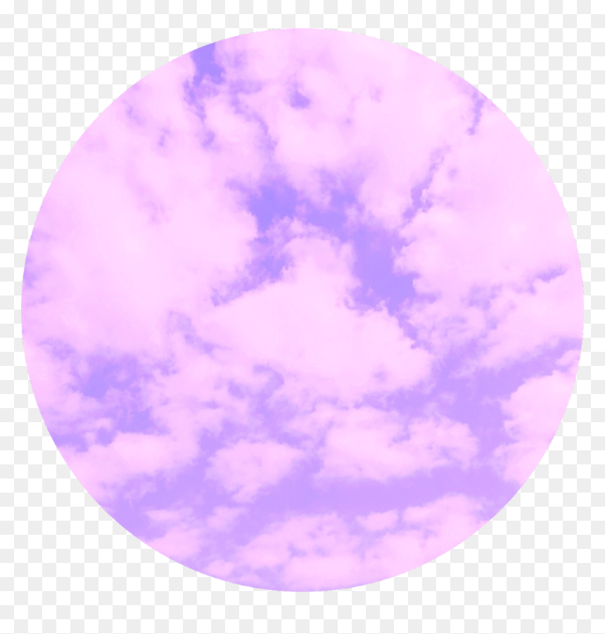 Purple Cloud Circle Background Tumblr Aesthetic Hd Png Download Vhv
