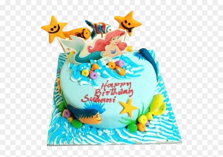Surprising Birthday Princess Ariel Cake Hd Png Download Vhv Funny Birthday Cards Online Drosicarndamsfinfo