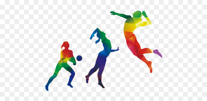 Sports Color Figures Clipart Image And Transparent Colorful Volleyball Background Design Hd Png Download Vhv