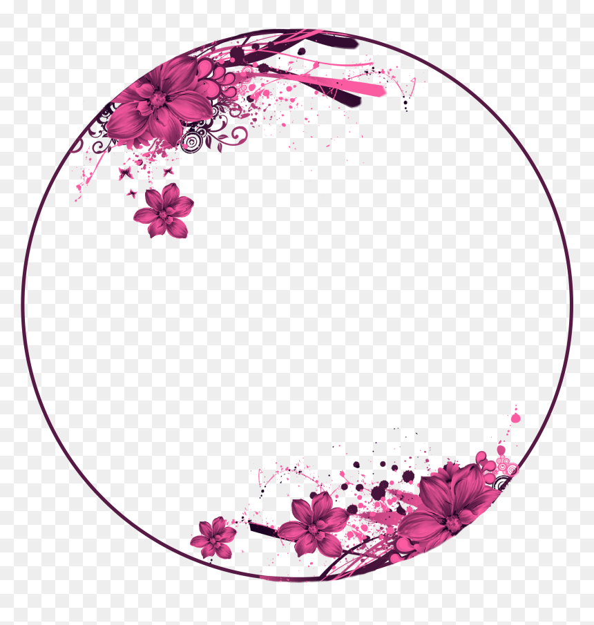 275 2751799 flowers pink circle frame wallpaper quotes blank blue