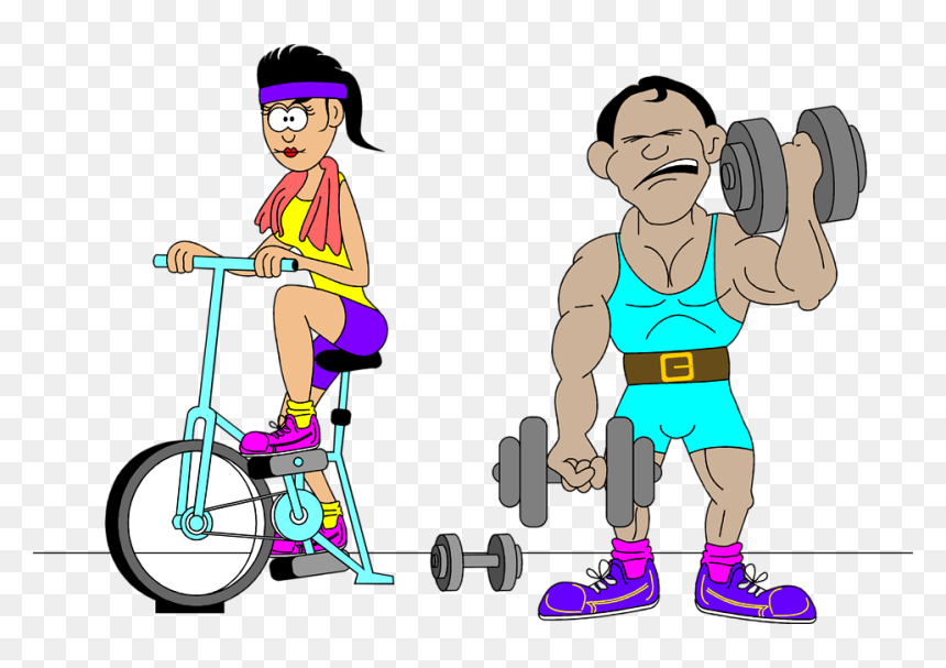 Clip Art People Working Out Clipart Free Clip Art Exercising Hd Png Download Vhv