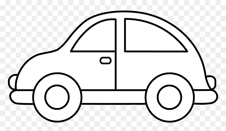 Car Clipart Coloring Page Hd Png Download Vhv