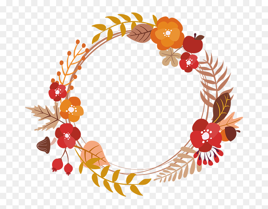Fall Wreath Clipart Free Hd Png Download Vhv