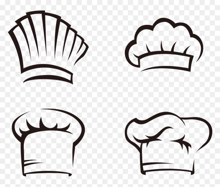 Transparent Chef Hat Clip Art - Topi Koki Vector Png, Png