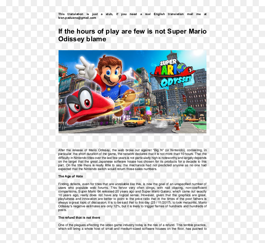 Super Mario Odyssey Wallpaper 1080p Hd Png Download Vhv