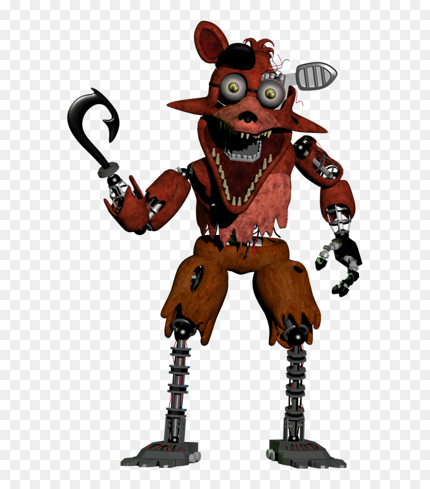 Withered Foxy Five Nights At Freddys 2 Hd Png Download Vhv