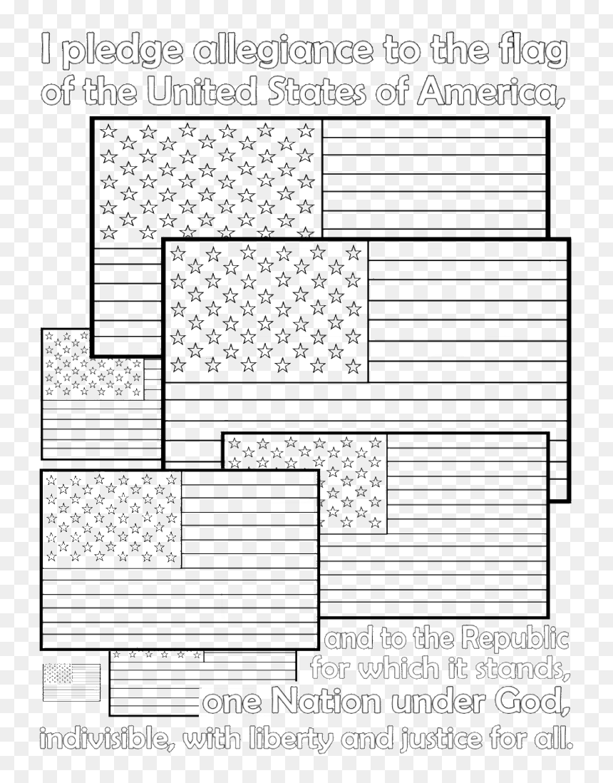 American Flag Pledge Of Allegiance Coloring Page - Flag Of The