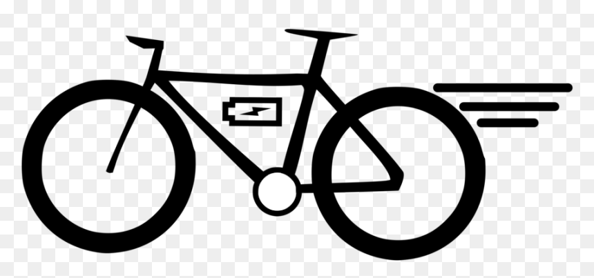Line Art Cycling Bicycle Handlebar Electric Bike Clipart Transparent Hd Png Download Vhv