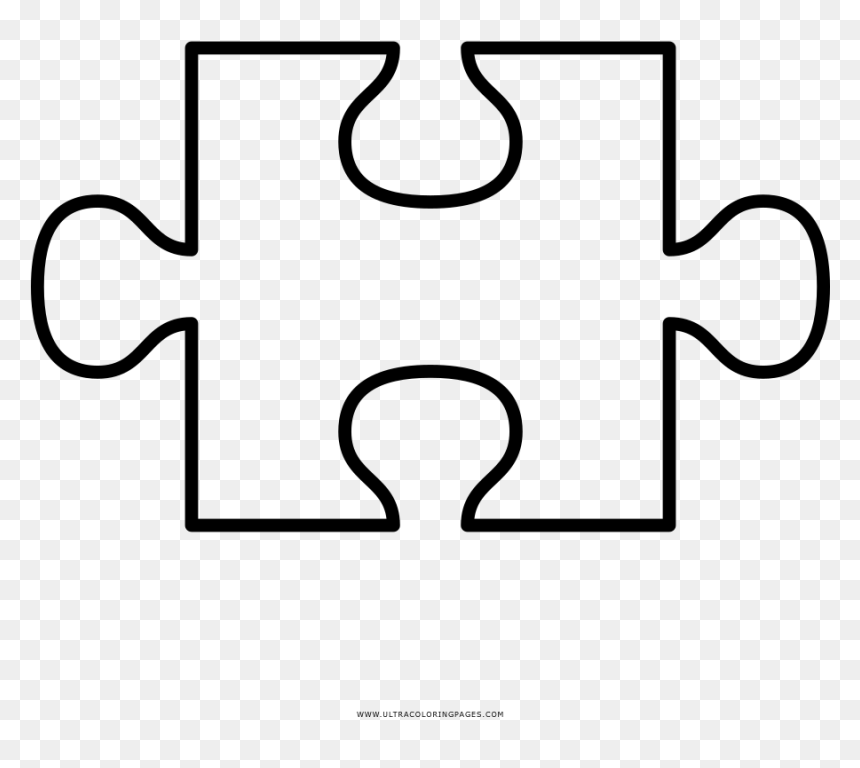 Puzzle Piece Cut Out Templates Puzzle Pieces Clipart - Cut Out Puzzle Piece  Template, HD Png Download - vhv