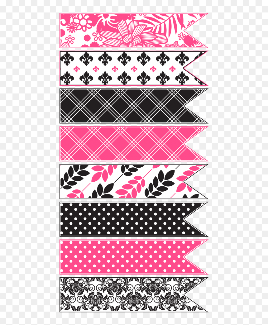 It's just a photo of Free Printable Washi Tape for magenta floral