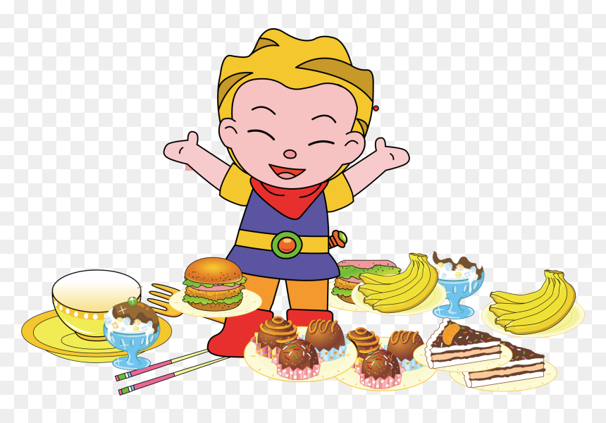 Food Clipart Kid Kid Eating Png Transparent Png Vhv