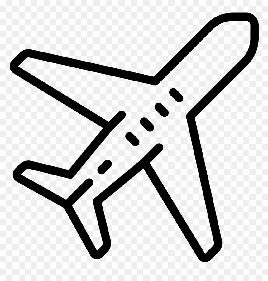 Transparent Airport Icon Png Black And White Airplane Icon Png