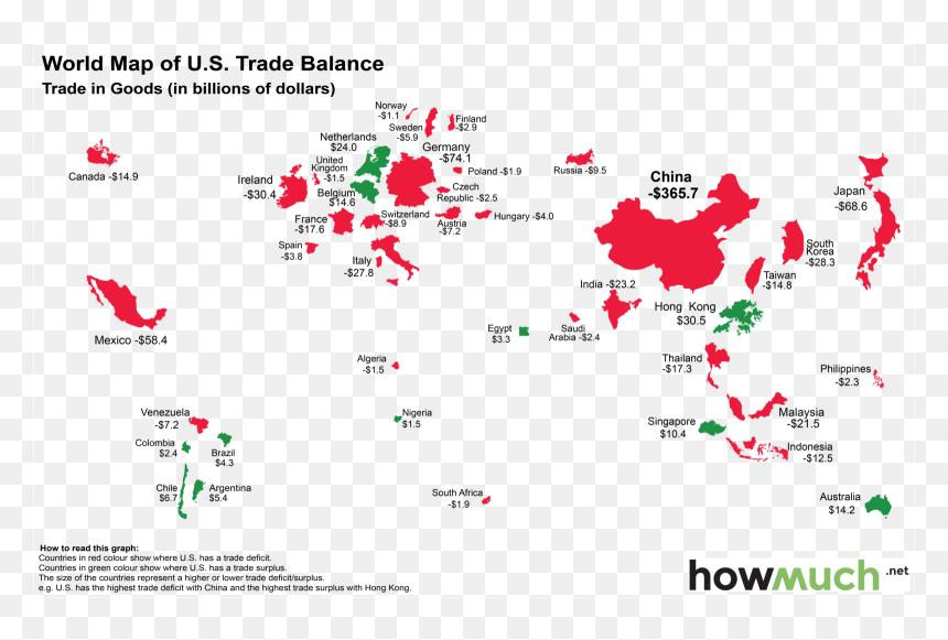 Map Of Trade War China Us Hd Png Download Vhv