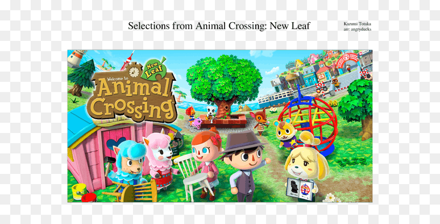 Animal Crossing New Leaf Hd Png Download Vhv