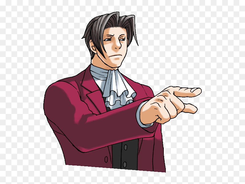 Sticker Other Ace Attorney Benjamin Hunter Reiji Mitsurugi Miles