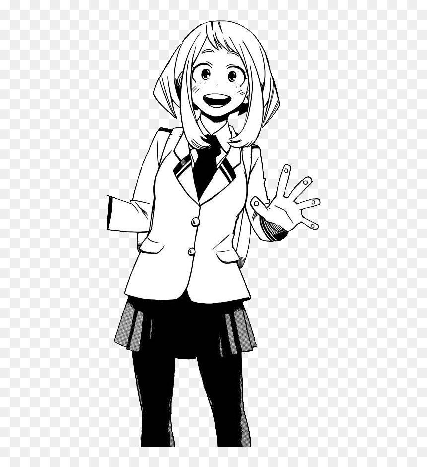 Ochaco Uraraka School Profile Manga Ochako Uraraka Manga Transparent Hd Png Download Vhv