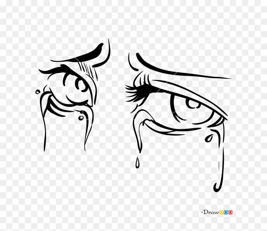 Cartoon Crying Eyes Drawing Hd Png Download Vhv