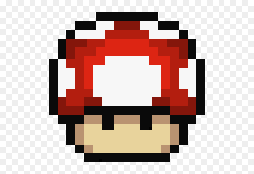 Mario Mushroom Pixel Art Hd Png Download Vhv