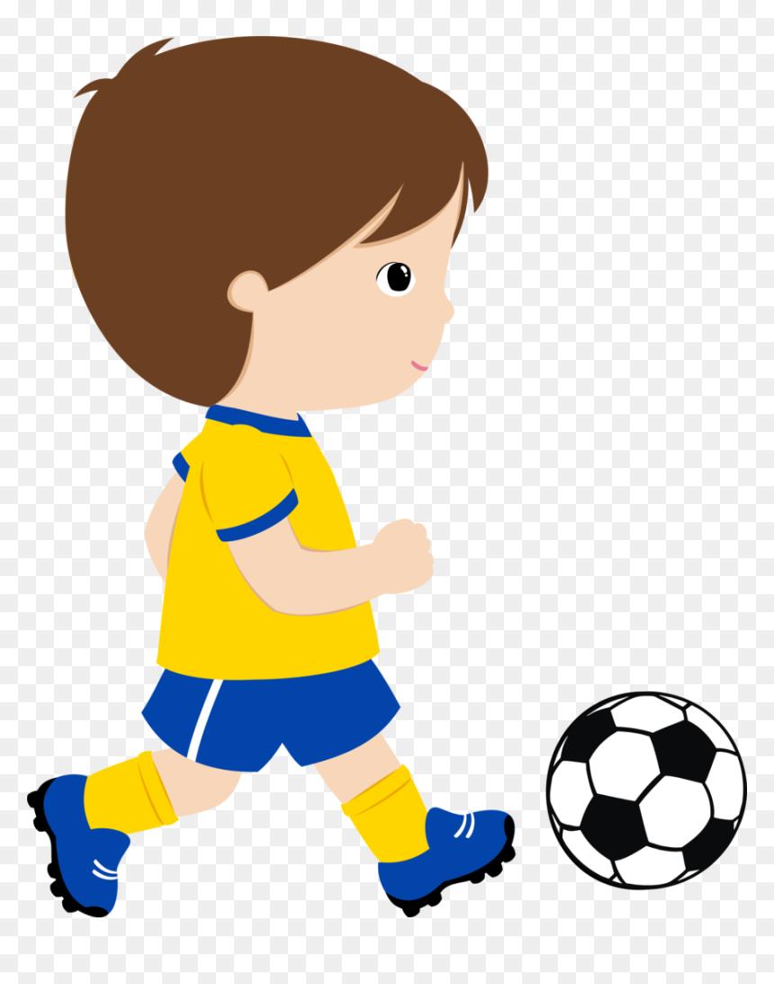 Transparent Kids Playing Soccer Clipart Menino Jogando Futebol Desenho Hd Png Download Vhv