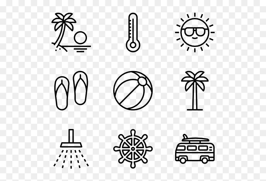 black summer icons png transparent png vhv black summer icons png transparent png