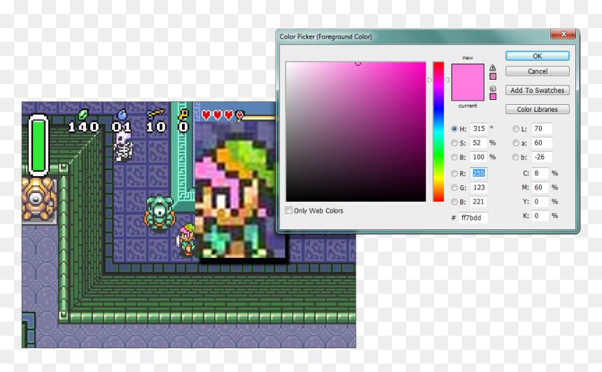 Link To The Past Link Pink Hair Hd Png Download Vhv