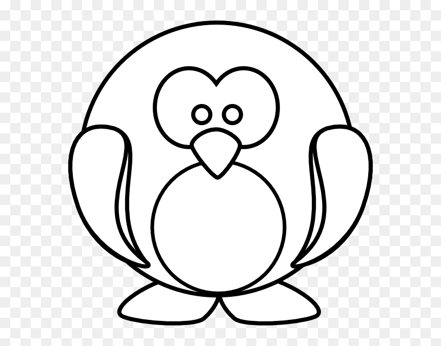 Cartoon penguin coloring page Royalty Free Vector Image | 675x860