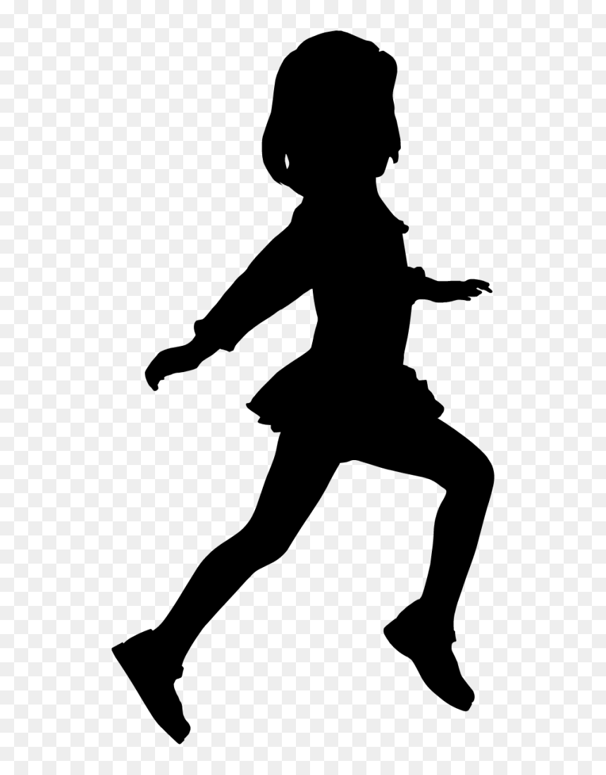 Child Dance Mural Woman Wallpaper Child Jumping Silhouette Png Transparent Png Vhv