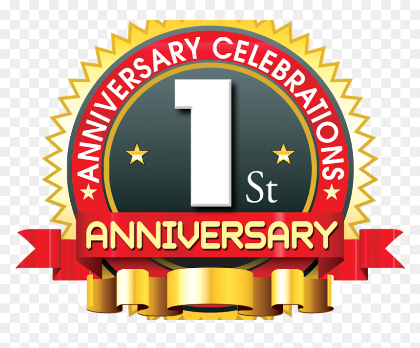 1st anniversary logo with red ribbon psdfiles in psd 99 9 uptime guarantee hd png download vhv 1st anniversary logo with red ribbon