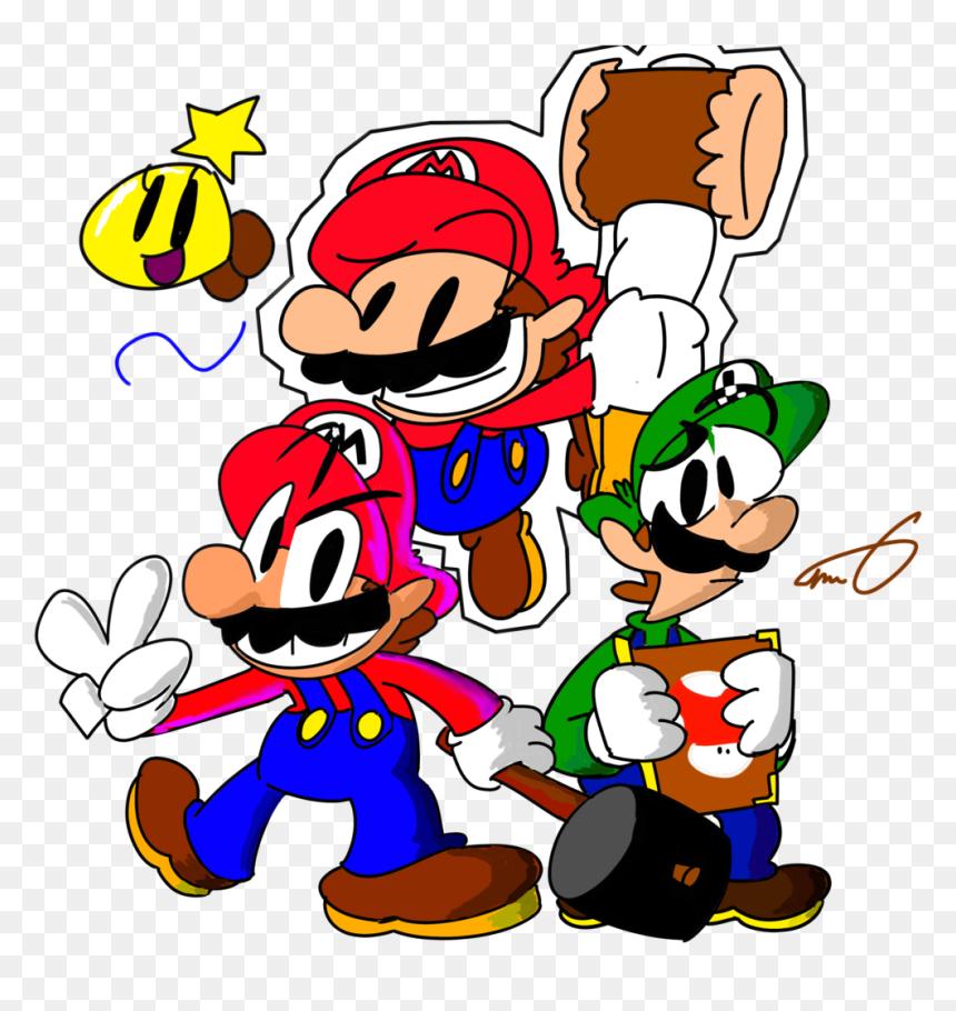 Luigi Clipart Paper Mario Mario Luigi Paper Jam Fanart Hd Png