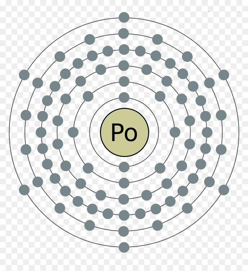 electron shell 084 polonium2 - bohr rutherford diagram gold, hd png  download - vhv  vhv.rs