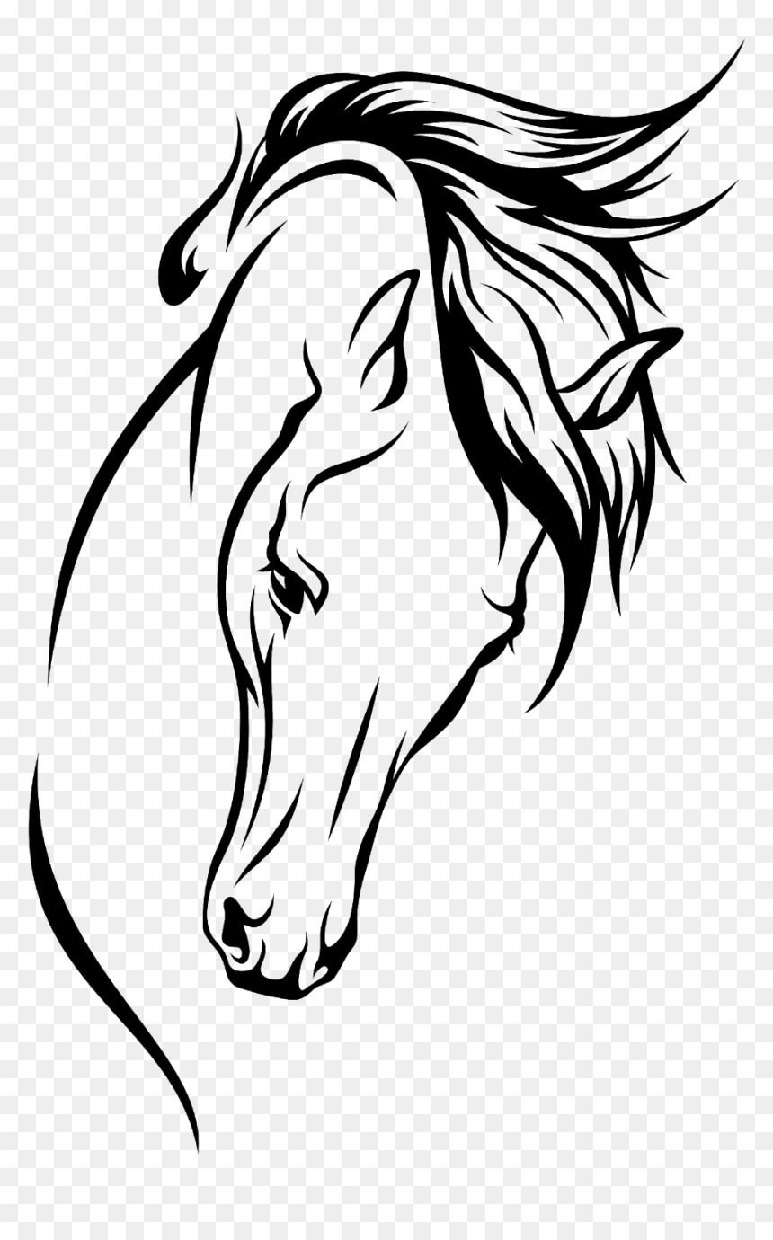 Arabian Horse Drawing Silhouette Clip Art Arabian Horse Line Drawing Hd Png Download Vhv