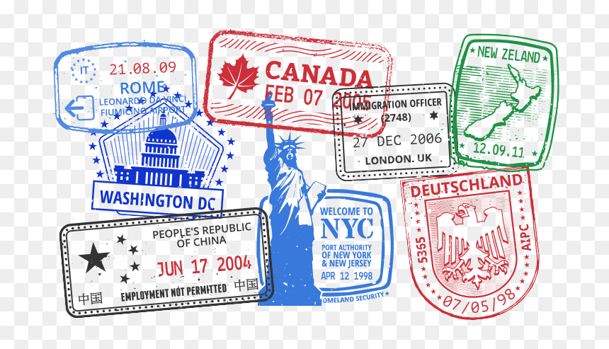 Travel Stamps Png Passport With Stamp Png Transparent Png Vhv