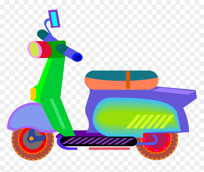 vector illustration of motor scooter motorcycle with imagenes de transporte terrestre animados hd png download vhv vector illustration of motor scooter