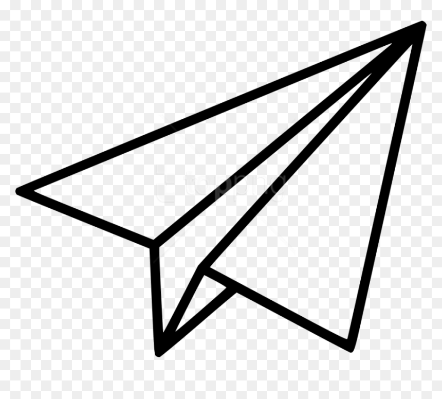 Paper Airplane Icon Transparent Background Hd Png Download Vhv