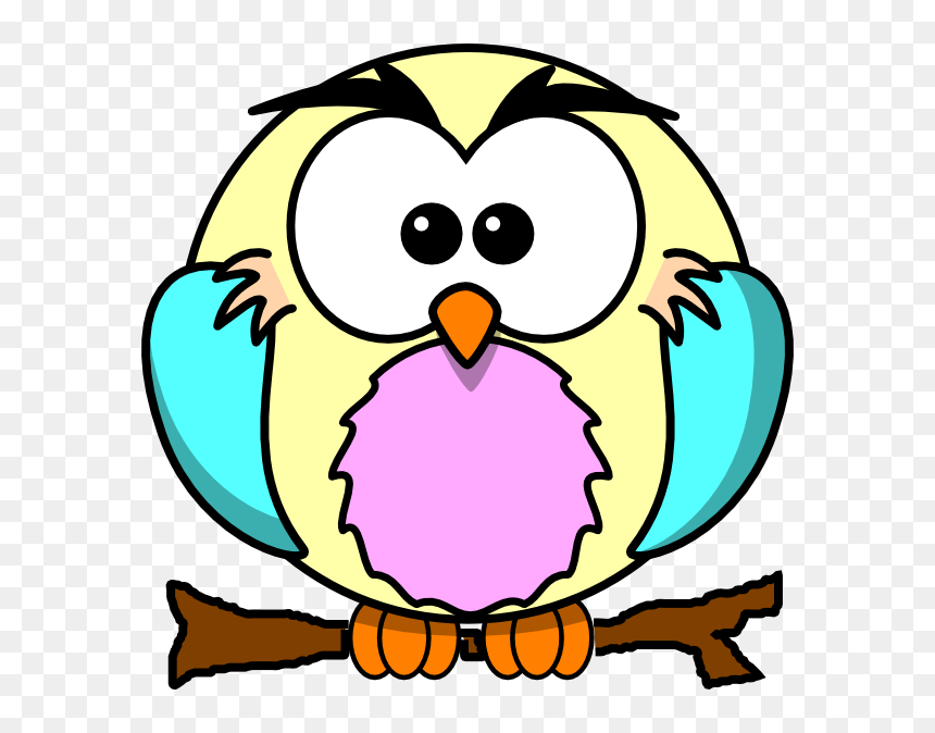 Cartoon Owl Clipart Owl Cute Colouring Coloring Book - Coloring Cartoons  Pages Hd, HD Png Download - Vhv