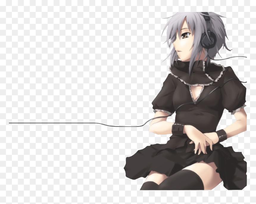 Anime Girl With Headphones Png Download Yuki Nagato Wallpaper Violin Transparent Png Vhv