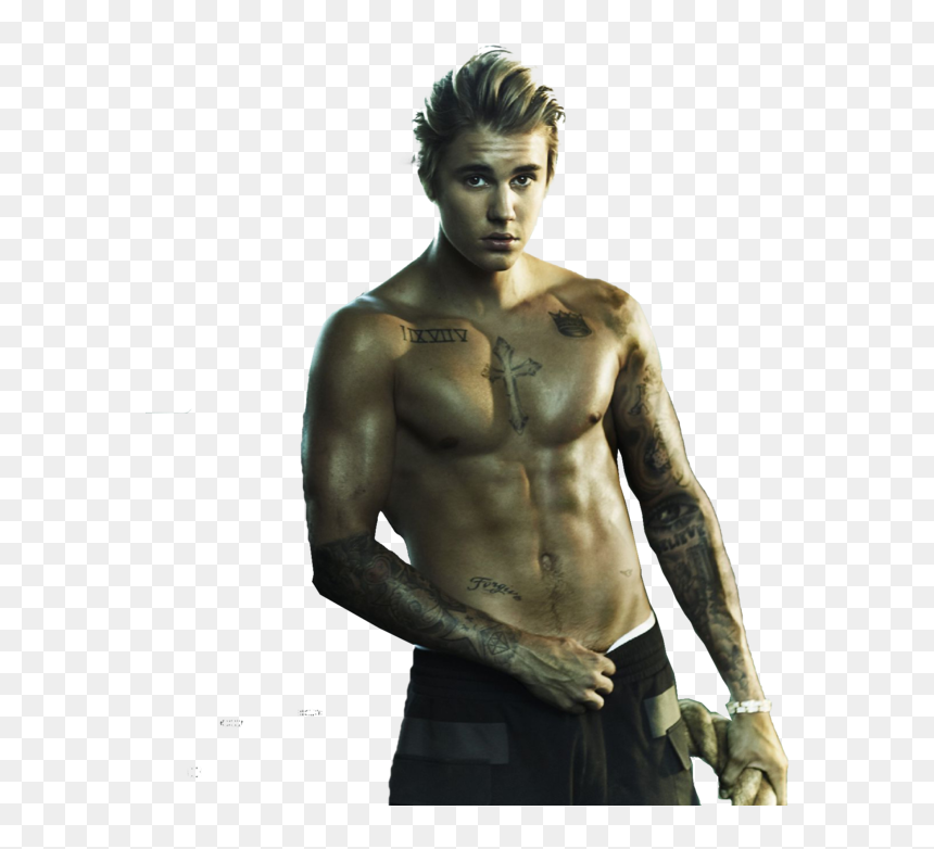 Justin Bieber Png 2017 Muscles By Amberbey Justin Bieber Shirtless Hot Transparent Png Vhv