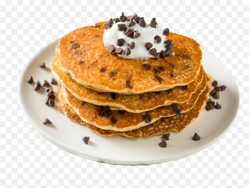 Chocolate Chip Pancakes With Whipped Cream Hd Png Download Vhv