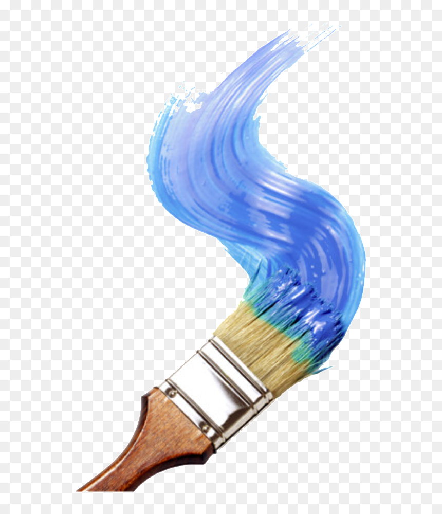 Paint Paintbrush Painting Blue Blueaesthetic Aesthetic Paint Brush Painting Png Transparent Png Vhv