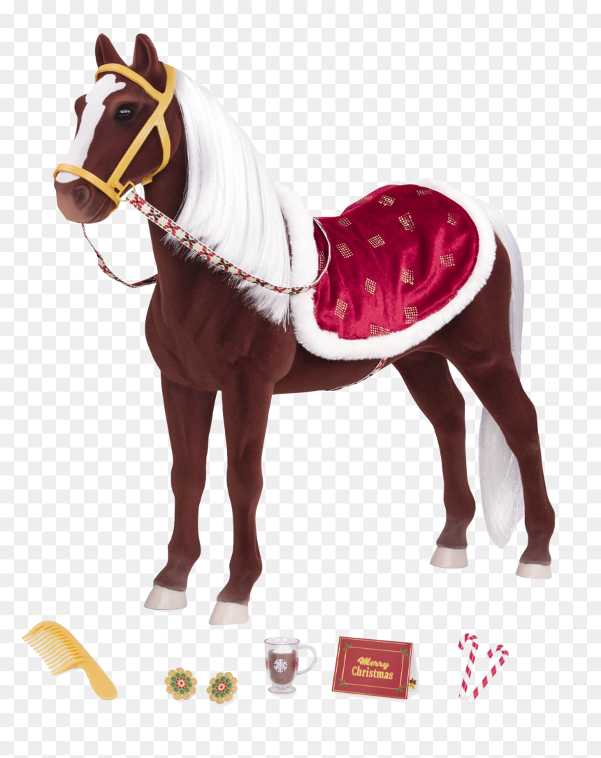 Winter Wonder Holiday Horse With Accessories Our Generation Christmas Horse Hd Png Download Vhv
