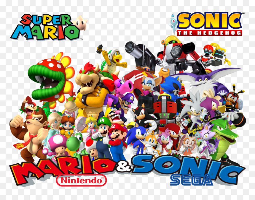 Mario And Sonic Wallpapers Super Mario And Sonic The Hedgehog Hd Png Download Vhv
